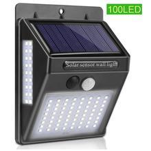 цена на 100LED 20W Solar Lamp Waterproof PIR Motion Sensor Security Solar Lamp Outdoor Emergency Wall Light Solar Light Outdoor Garden