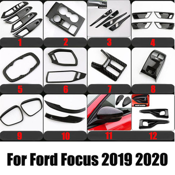 For Ford Focus 4 mk4 2019-2020 Car Styling Gear panel Cup Holder Door Handle Steering Wheel Air Vent Decorative Sticker image