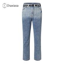 Mom Jeans Denim Pants Vintage Mujer High-Waist Fashion Women's Full-Length Cowboy Straight