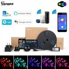 Умный светодиодный светильник Sonoff L1, лента совместима с Alexa Google home eWeLink, регулируемый гибкий RGB светильник s