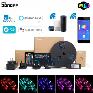 Image 1 - Sonoff L1 スマート Led ライトストリップと互換性 Alexa Google ホーム eWeLink 制御調光可能な柔軟な Rgb ストリップライト