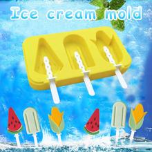 New Silicone Ice Cream Mold Popsicle Molds DIY Homemade Cartoon Pop Maker Mould Summer