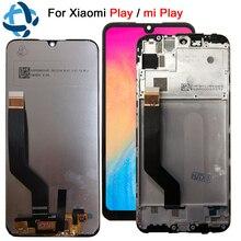 """Pantalla lcd de 100% """"para xiaomi Play, montaje de digitalizador con pantalla táctil para xiaomi Miplay, repuesto de digitalizador LCD mi play, 5,84 probado"""