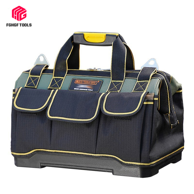 FGHGF Tool Bag Electrician Tools Carpentry Hardware Repair Portable Storage Organizers Box Work Spanner Kitbag Big toolkit