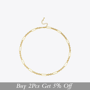 Image 2 - ENFASHION Long Link Chain Choker Necklace Women Gold Color Statement Necklace Lady Fashion Femme Jewelry Dropshipping P193059