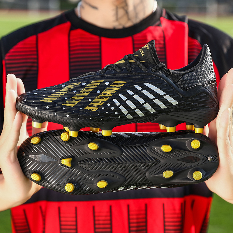 Mens Soccer Cleats Football Shoes Long Spikes Outdoor Lightweight Training Shoes For Adult Soccer Shoes 39-45