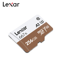 ليكسر بطاقة الذاكرة المهنية 667x SDXC UHS I بطاقة SD الصغيرة الجديدة مع محول 256GB A2 U3 V30 فئة 10 TF بطاقة للفيديو 4K