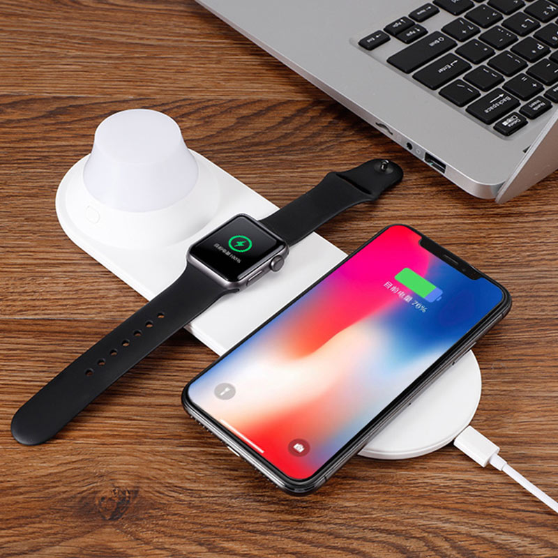 Phone Wireless Charger Quick Charging Smart Watch Charger with LED Night Light VDX99 in Chargers from Consumer Electronics