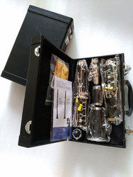 Clarinet 17 key drop Clarinet Silver plated B Flat Klarinet Bakelite Nickel Plated Clarinet With Case Two Pairs Of Main Export