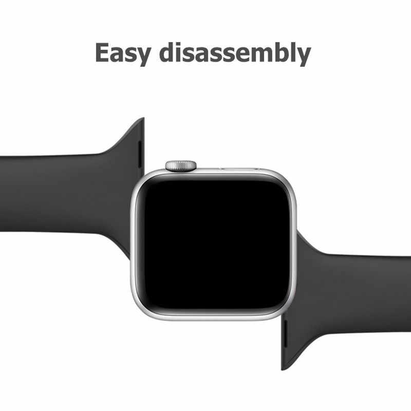 スリム用 apple watch バンド 44 ミリメートル 40 ミリメートル iwatch バンド applewatch ストラップ 42 ミリメートル 38 ミリメートルシリコンブレスレット apple watch シリーズ 5 4 3 2 1
