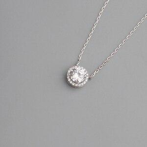 Image 3 - BOEYCJR 925 srebrny 0.5/1/1. 2/2ct F kolor Moissanite VVS zaręczynowy ślubny naszyjnik naszyjnik dla kobiet prezent na rocznicę