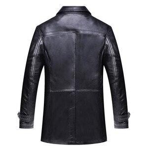 Image 3 - חדש באיכות גבוהה אופנה סופר גדול גברים אמיתי עור מעיל מעיל רופף חליפת צווארון סתיו חורף מקרית Plsu גודל L 8XL 9XL