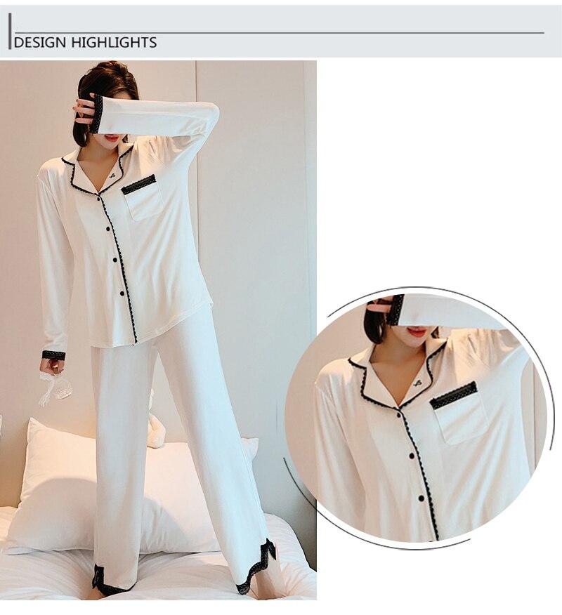 Moda outono e inverno novos pijamas de