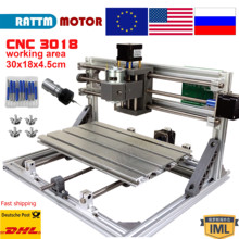 EU/RU/US Shipping GRBL control Laser CNC Milling machine 3018 3 Axis for Pcb Pvc  Wood laser engraving desktop cnc