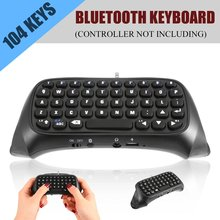 цена на 3.5mm Plug Bluetooth Mini Wireless Chatpad Message Keyboard for Sony for Playstation 4 for PS4 Controller Black Drop Shipping