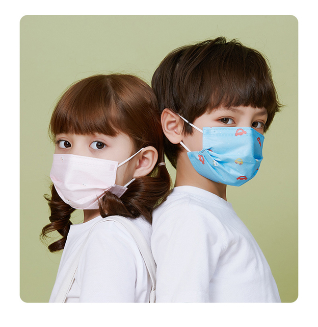Disposable Child Face Mask 3 Layer Respirator Non-Woven Masks Kids mask children Mouth Mask Anti Pollution Print Face Masks 5