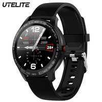 Reloj inteligente UTELITE L9 para hombre IP68 a prueba de agua ECG pulsómetro Monitor de presión arterial pantalla táctil completa reloj para teléfono Xiaomi Huawei