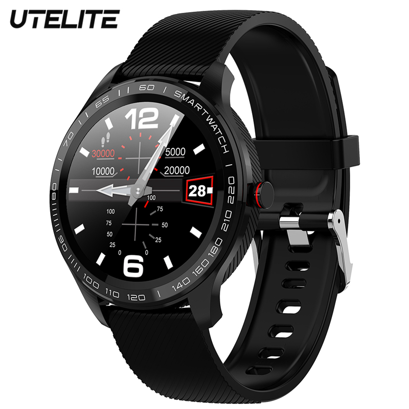 UTELITE L9 Men Smart Watch IP68 Waterproof ECG Heart Rate Blood Pressure Monitor Full Touch Screen Clock for Xiaomi Huawei Phone|Smart Watches|   - AliExpress