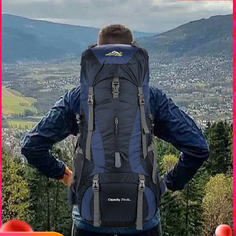 Outdoor Hiking Backpack Men's Lightweight Large-capacity Hiking Wear-resistant Waterproof Female Camping Rucksack