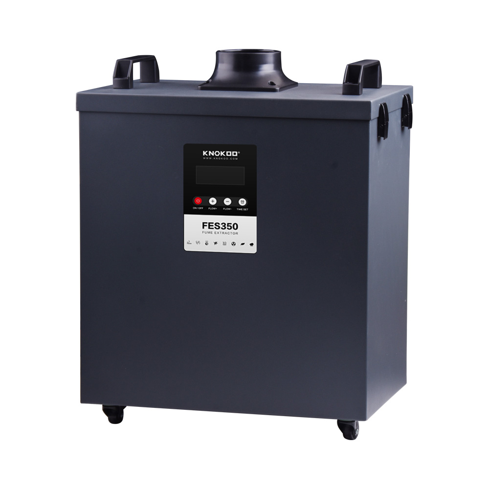 Tools : KNOKOO  Activated Carbon Filter 350W Professional Laser Cutting Fume Extractor  Remove Smoke And Odor