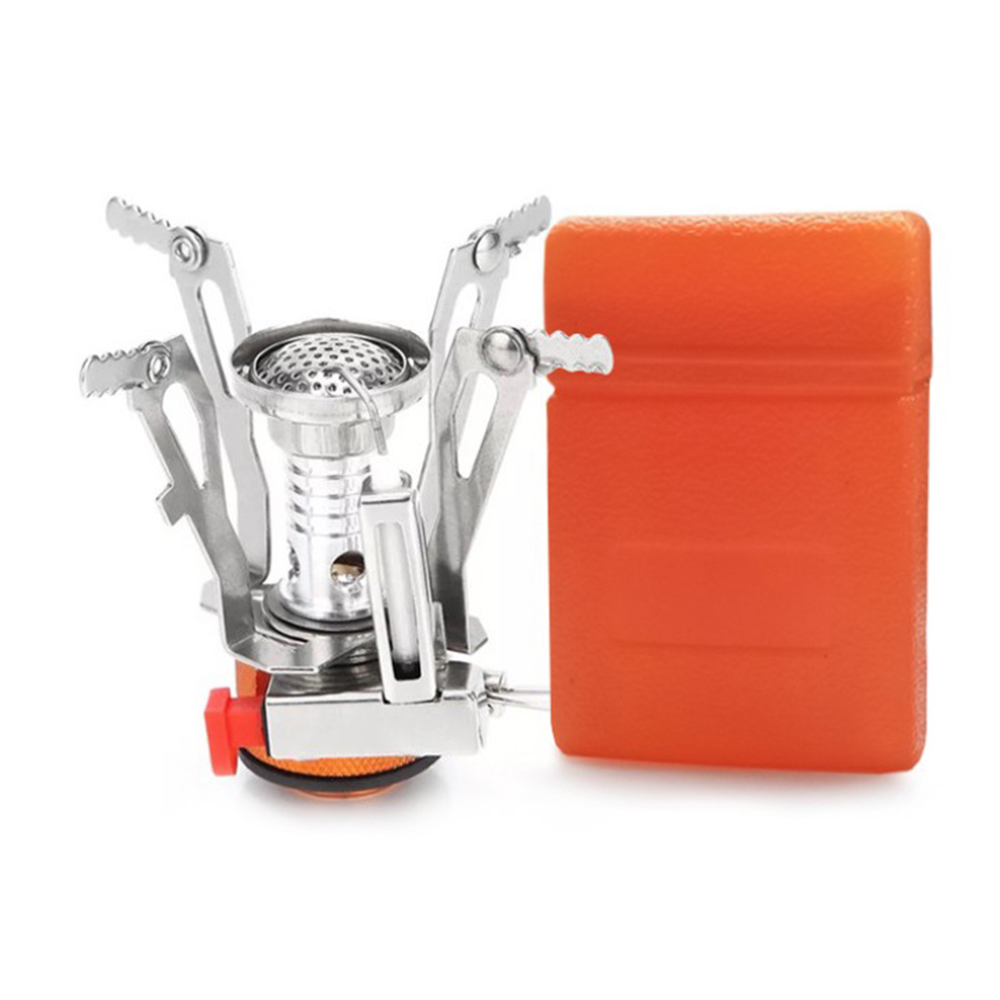 Mini Camping Stoves Aluminium Folding Outdoor Gas Stove Portable Furnace Cooking Picnic Split Stoves Cooker Furnace Stove