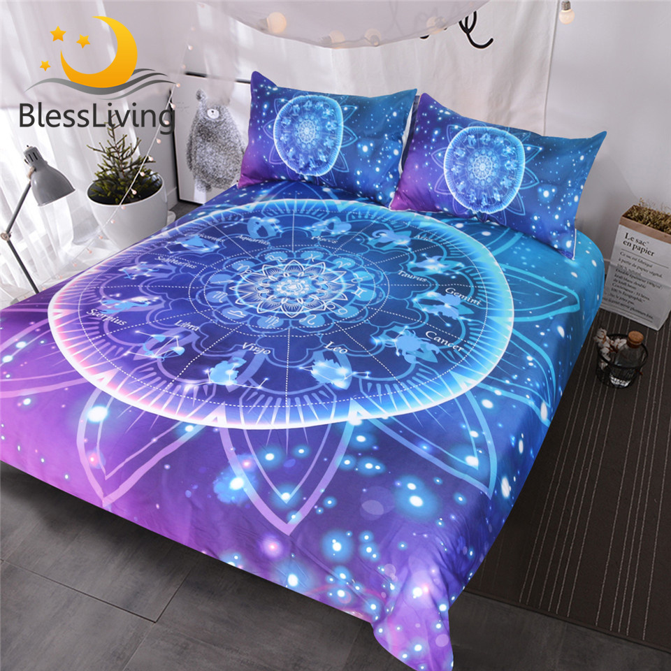 New Red and Purple Floral Printed Bless Design Duvet Cover Quilt Bedding Set All