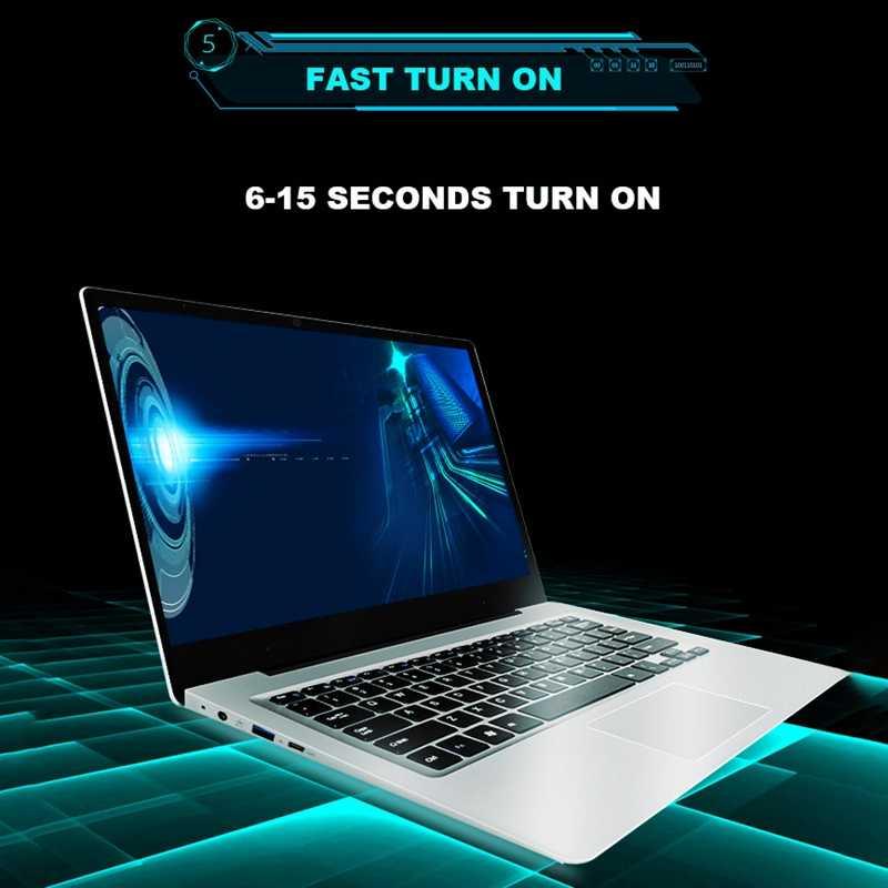 Máy Tính Laptop 15.6 Inch RAM 8 GB Ddr4 Intel J3455 Quad Core Sổ Tay Có Màn Hình FHD Ultrabook Phích Cắm Châu Âu