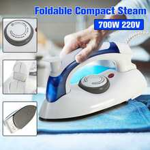 700W Portable Foldable Electric Steam Iron Mini Home Travel Irons Machine Adjustable Non-stick Soleplate Clothes Steam Iron