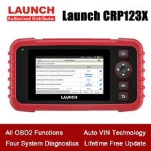 LAUNCH CRP123X OBD2 스캐너 체크 엔진 ABS SRS 전송 코드 리더 안드로이드 기반 와이파이 원 클릭 자동차 진단 도구