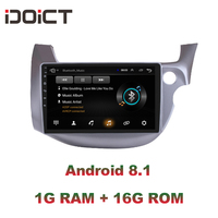 IDOICT Android 8.1 2.5D Car DVD Player GPS Navigation Multimedia For Honda Fit Jazz Right Hand Drive RHD Radio 2008 2013