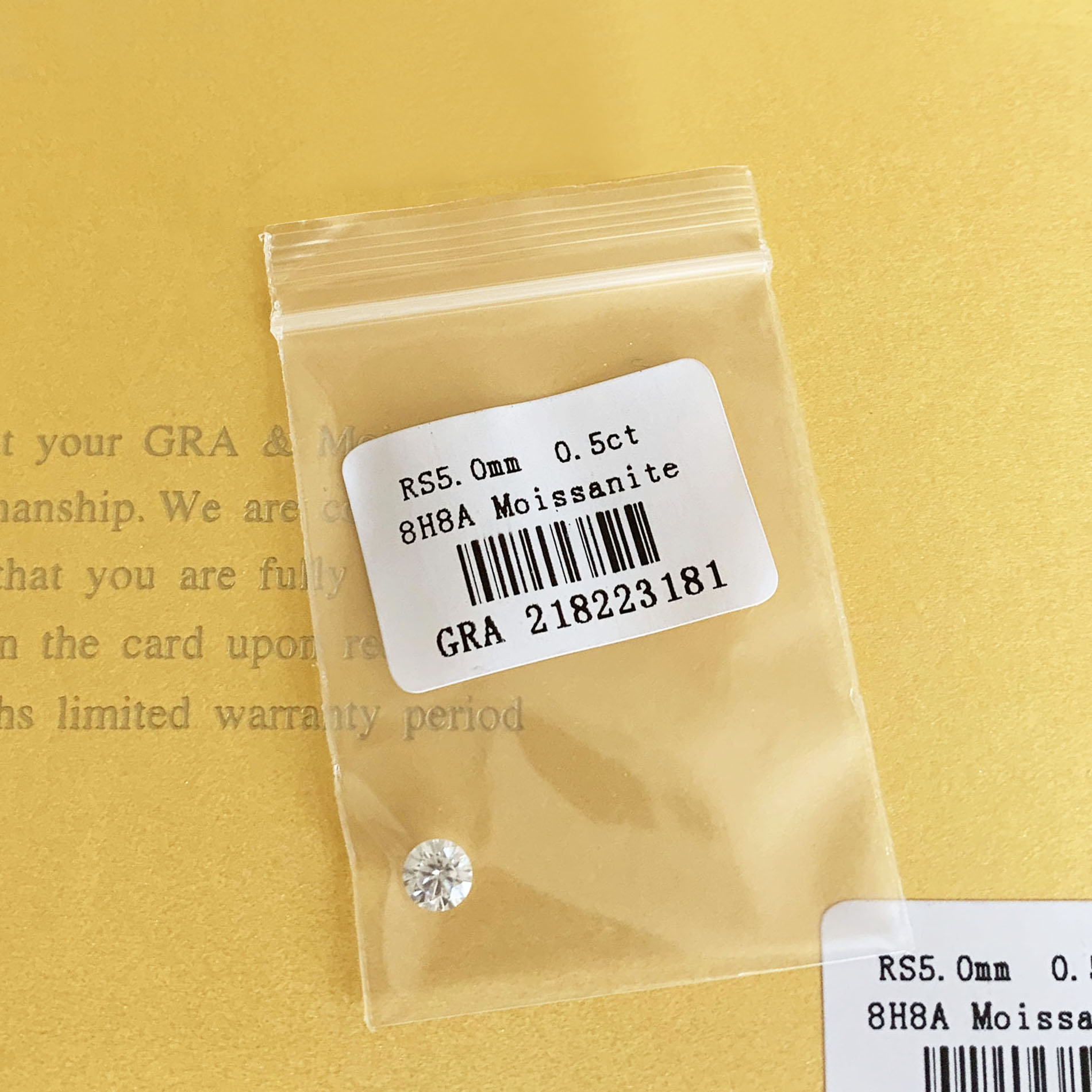 Loose Moissanite 0.5ct Carat 5mm IJ Color Round Brilliant Cut VVS1 ring bracelet jewelry DIY material Lab diamond
