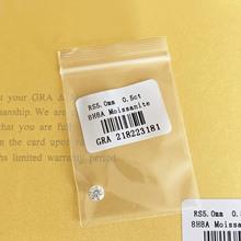 Luźny moissanit 0 5ct karat 5mm IJ kolor okrągły Brilliant Cut VVS1 bransoletka pierścionek biżuteria DIY materiał Lab diament tanie tanio AWSM Diament I Kolor Grzywny Moissanite 0 5ct 5mm
