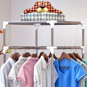 Image 3 - COSTWAY Clothes Hanger Coat Rack Floor Hanger Storage Wardrobe Clothing Drying Racks porte manteau kledingrek perchero de pie