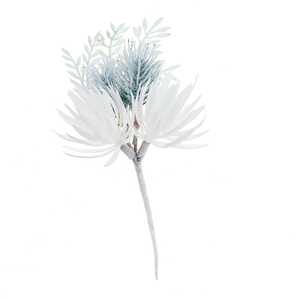1PCS 16CM ดอกไม้ประดิษฐ์ Pine หญ้าดอกไม้ตกแต่งงานแต่งงาน DIY CRAFT Scrapbook ปลอมดอกไม้ตกแต่งคริสต์มาส