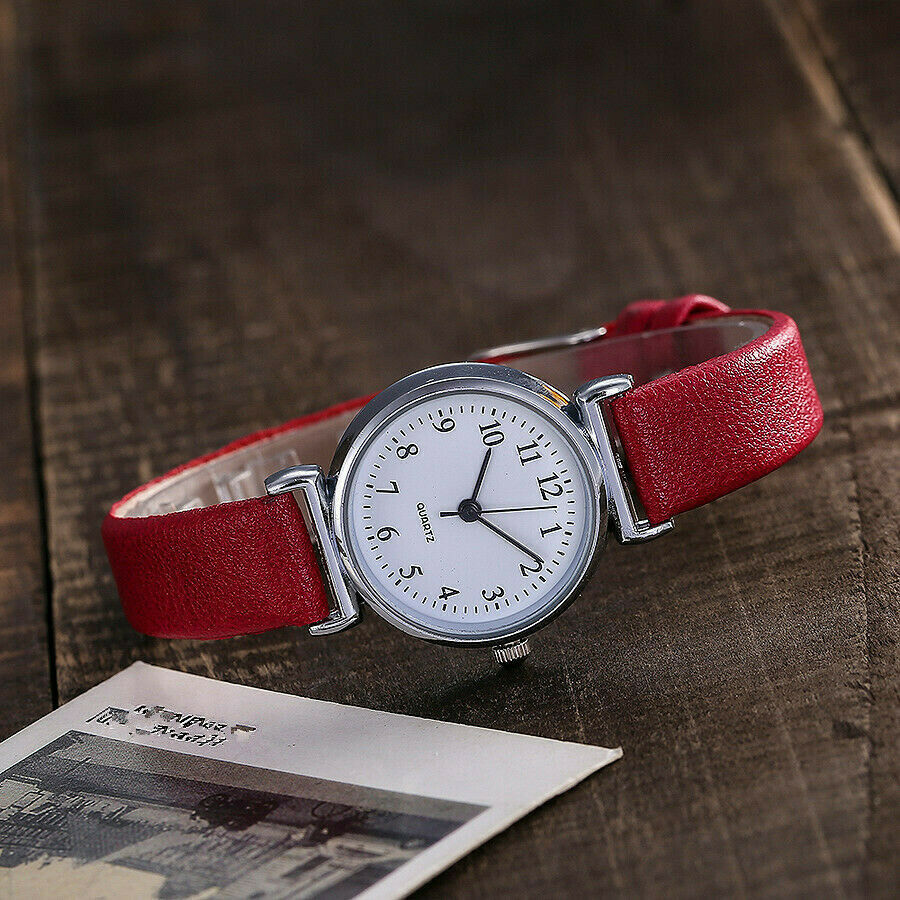 Classic Women's Watches Casual Quartz Leather Strap Band Watch Round Analog Clock Wrist Watches 2