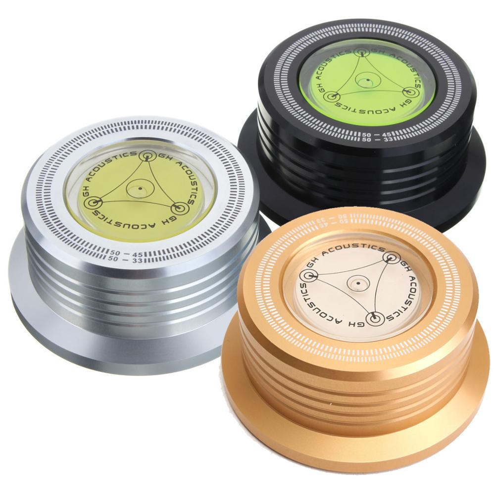 Leory 1 pçs ouro preto prata metal 3in1 registro braçadeira lp disco estabilizador equilíbrio medida vibração equilibrada para plataforma giratória