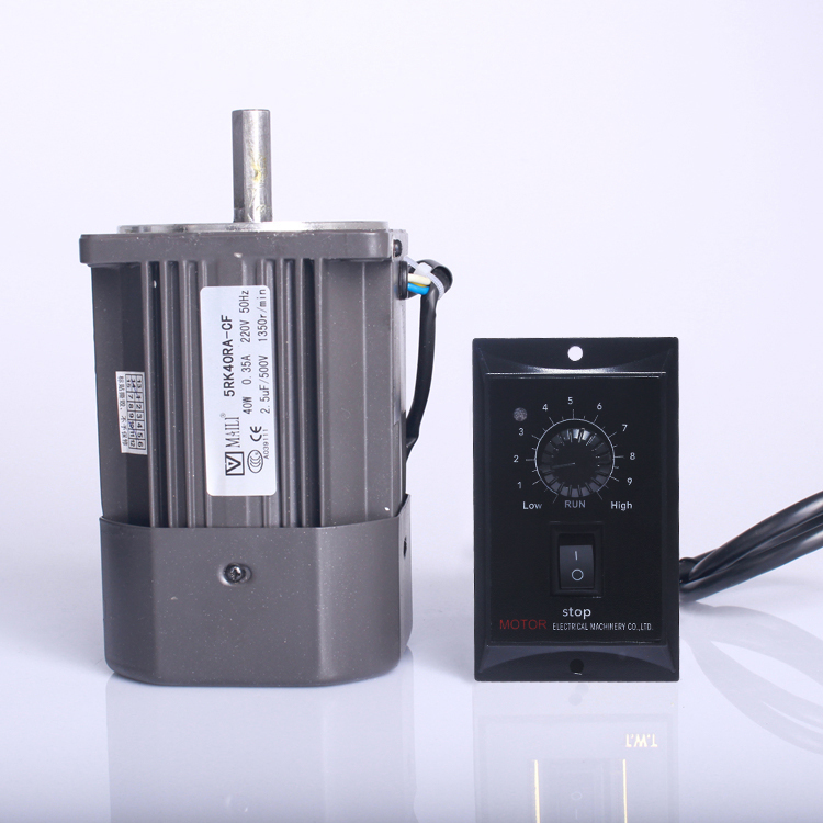 40W/60W/90W/120W/250W optical axis high speed speed regulating <font><b>motor</b></font> 1350 <font><b>rpm</b></font> / 220V / with speed controller image