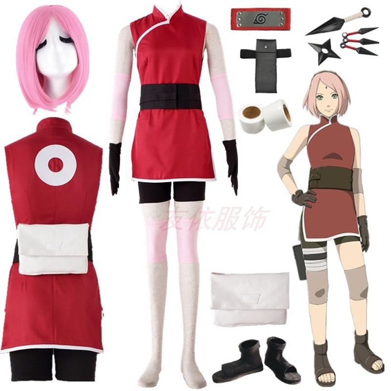 THE LAST -NARUTO THE MOVIE- Haruno Sakura Cosplay Costume Halloween
