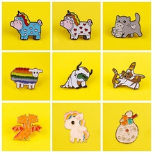 Cute Pony Brooch Badges for Backpack Lovely Lamb Badges for Clothes Animal Enamel Pins for Backpacks Clothes Lapel Pin Badge DIY leisurely cute cats badges for clothes animal enamel pins for backpacks clothes lapel pin badges for backpack badge jewelry gift