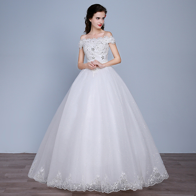 Vestido Cocktail Sen Is A Super Dream Fairy Light French 2020 New Main Wedding Dress The Bride Shoulder Neat, Female Small Word
