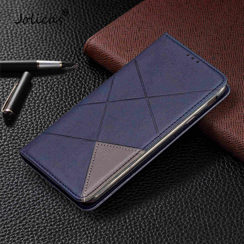 J4 Plus housses de téléphone portable simples pour capa Samsung J4 Plus étui portefeuille à rabat en cuir pour cellule Samsung Galaxy ajax J4 + Coques