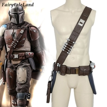 The Mandalorian Cosplay Props Bullet Belt with Holsters Metal Buckle Mandalorian Baldric any size Sash