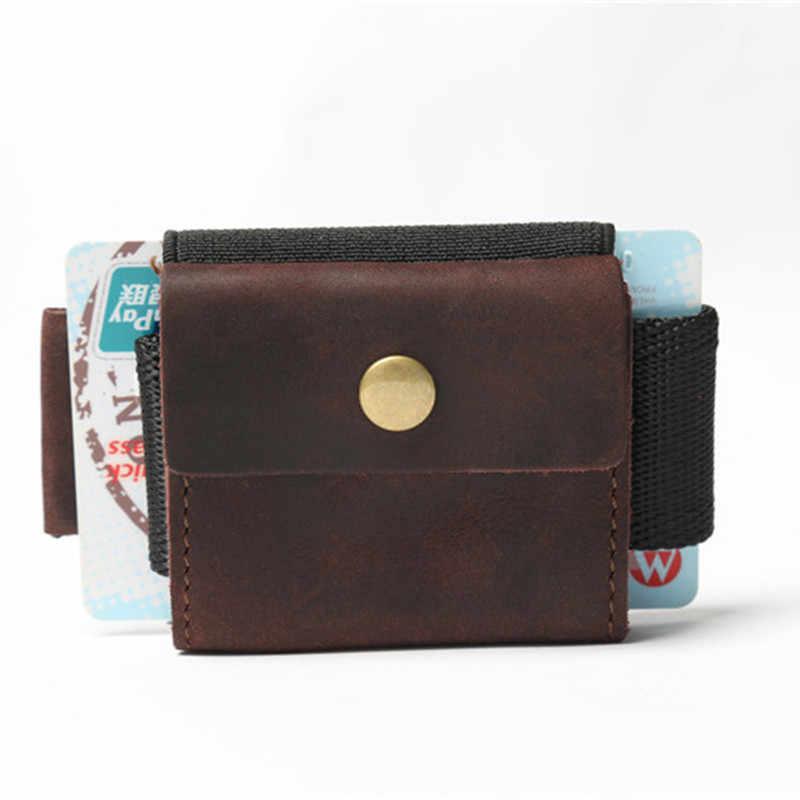 Sap LEACOOL Raquete de 100% Couro Genuíno bolsa de Moedas de Mini Bolsa Da Moeda Multi função EDC Pequena Titular Do Cartão Carteira Com Cinto