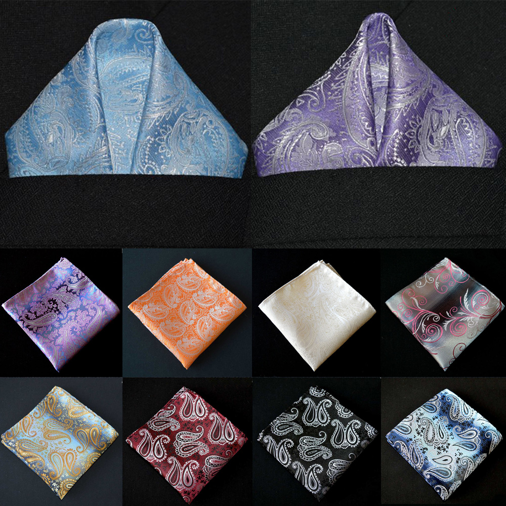 Men's Pocket Square Business Paisley Floral Printed Handkerchief  Wedding Party YXTIE0307