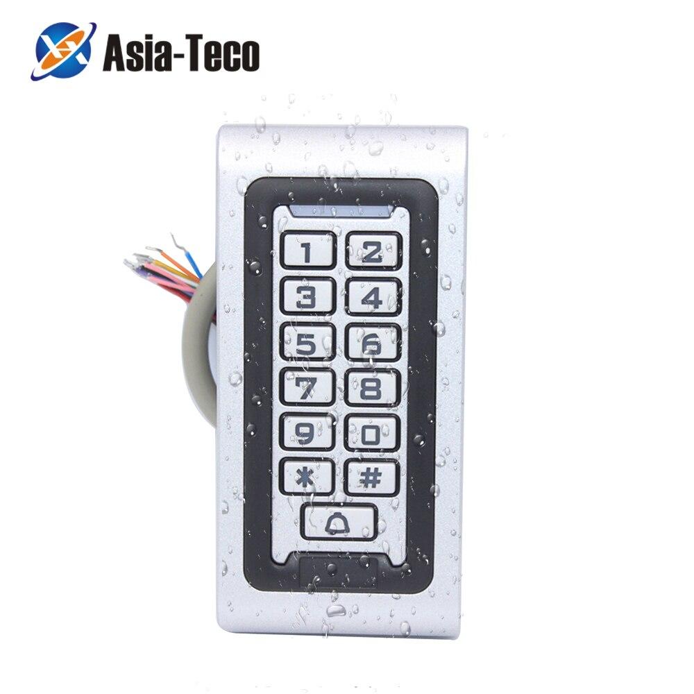 Водонепроницаемая подсветка RFID Дверь управление доступом читатель клавиатуры 1000 пользователей дверной звонок 125 кГц EM карта открывалка дв...
