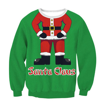 Novelty Unisex Sweaters Ugly Holidays Santa Elf Christmas Sweater Men Women Vacation Pullover Funny Tops Autumn Winter Clothing unisex men women ugly christmas sweater vacation santa elf funny christmas sweaters jumper autumn winter tops clothing
