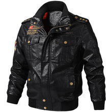 Plus Size 5XL 6XL PU Leather Jacket Men Autumn Biker Motorcycle Cowboy Leather