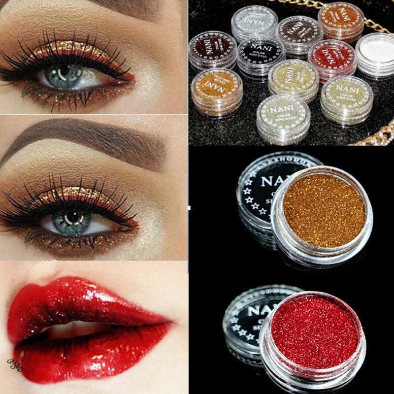 24 สี Shimmer Eyes Monochrome Glitter Eyes Lip แต่งหน้าเด็กเจ้าสาวไข่มุก Glitters Shining Make Up