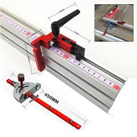 Aluminum Angle Miter Gauge Sawing Assembly Ruler Woodworking Tool 400mm Alluminium Fence for Table Saw Router Wood Working DIY|Hand Tool Sets| |  -