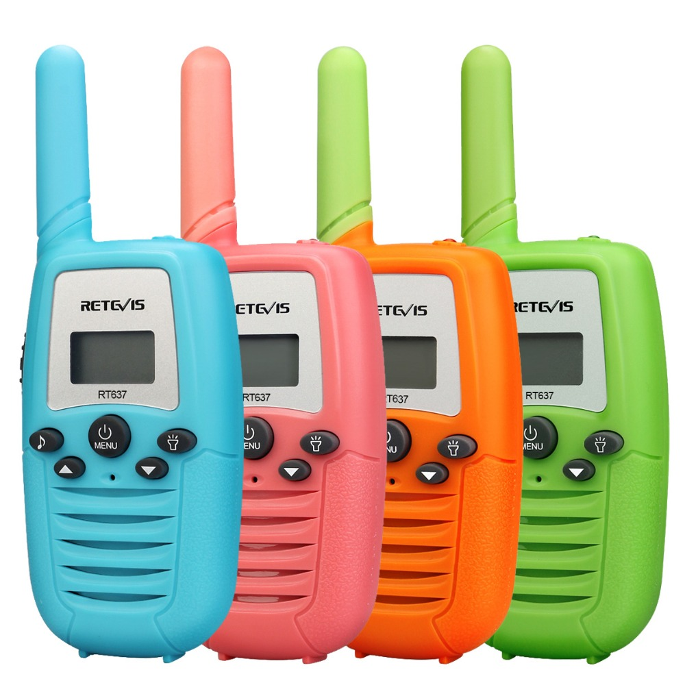 Retevis RT637/RT37 Walkie Talkie 2 Pcs Two-way Radio PMR446 PMR FRS Mini Walkie Talkie For Kids Flashlight VOX Four Colors